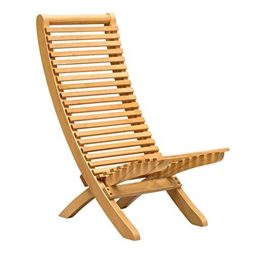 Houten opklapbare ligstoelen Deck Chair Wicker Stoel Luie Stoel Eenvoudige Stoel Zon Lounge Stoel voor Patio Yard Outdoor Tuin en Zwembad (Maat: L)