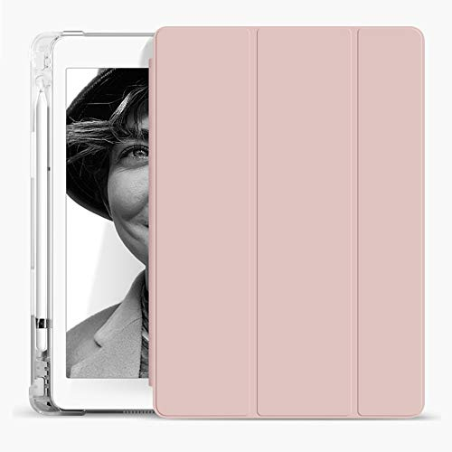 Aoub iPad 5th/6th Generation 9.7 Case 2018/2017 with Pencil Holder Thin Lightweight Smart Protective Stand TPU Transparent Back Shell, for Apple iPad 9.7 Inch Model A1822/ A1823/ A1893/ A1954(Pink) -  Aoub-11