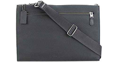 Coach Manhattan Convertible Slim Messenger Laptop Bag Midnight Navy