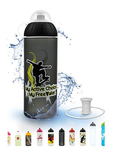 FreeWater Trinkflasche, 700ml, Skater: schadstofffrei, spülmaschinengeeignet, auslaufsicher, langlebig