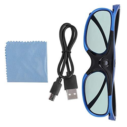 Professionelle Active Shutter 3D-Brille für DLP Link-Projektor 3D-Videoprojektor, Universal Active Shutter-Typ 3D-Brille DLP Link 3D-Projektor 3D-Brille HD-Objektiv für bessere Betrachtungserfahrung