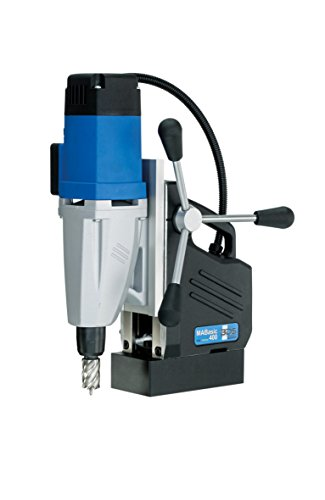 "CS Unitec MABasic 400 Portable Magnetic Drill Press: 2-Speed, Drills up to 1-5/8"" Diameter, up to 6-1/3"" Depth of Cut, 1050W, Best Power to Weight Ratio, Electronic Safety Shutoff"