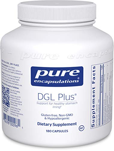 Pure Encapsulations - DGL Plus - Herbal Support for The Gastrointestinal Tract - 180 Capsules