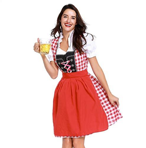 Frau Bandage Bezahlt Bayrisch Oktoberfest KostüMe Bardame Dirndl Kleid Damen Flirty FranzöSisch Maid Mit Halloween Schick Kostüm Erwachsene Clubkleidung Bluse Lolita Baumwolle Cosplay Kostüm TWBB