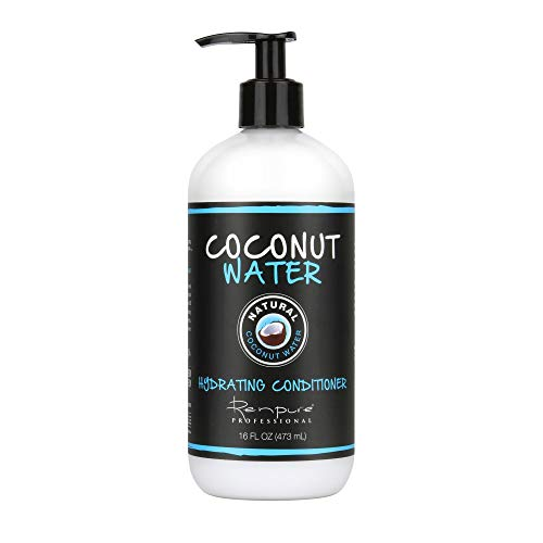 Renpure Coconut Water Hydrating Natural Conditioner - Coconut Oil Hair Organic Deep Conditioner - Sulfate Free Hair Conditioner for Dry Damaged, Straight, Fine, Color Treated & Curly Hair