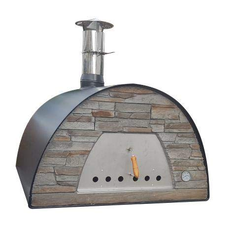 MAXIMUS Prime Arena Black Large Family/Commercial Wood-Fired Bread, Meat, Pizza Fish Outdoor Oven Real Wood Real Flavor Escape The Indoors ™
