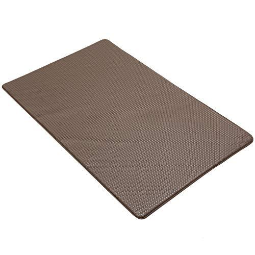 mianshe 洗濯いらず キッチンマット 台所マット 45×75cm 足腰にやさしい 拭ける ずれない お手入れ簡単 ブラウン