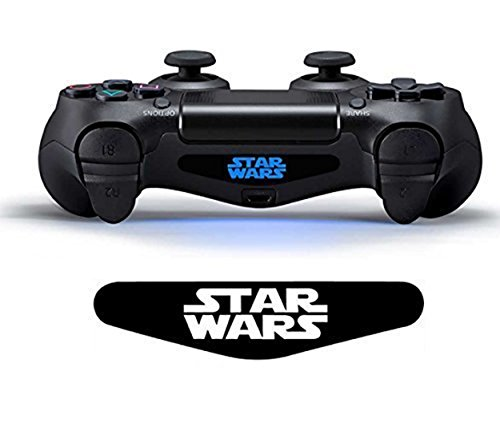 PlayStation 4 PS4 Lightbar Sticker Aufkleber - Controller Decal Logo - Wunschtext STAR WARS