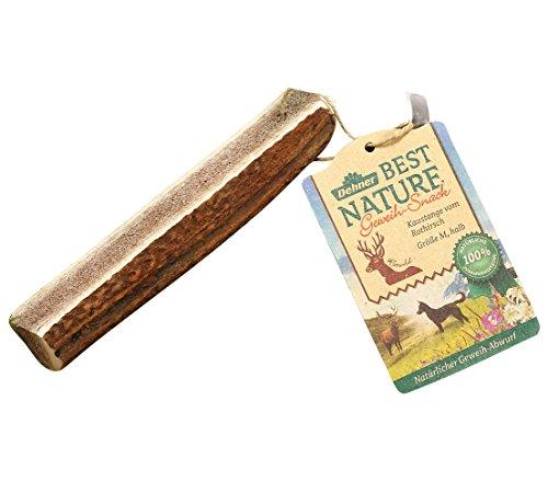 Dehner Best Nature Hundesnack, Kaustange, Geweih vom Rothirsch, halb, M