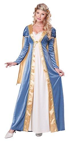 California Costumes Women's Elegant Empress Renaissance Lady Gown, Blue, X-Large