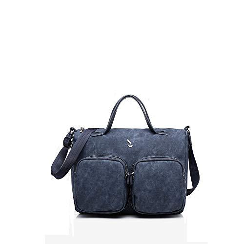 Abbacino BOWLING Bag mit verstellbarem und abnehmbarem Schultergurt 80265-80 Extra Nylon 43 x 26 x 13 Blau