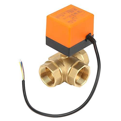 ViewSys DN32 G1-1/4 Brass 3 Way Bola Válvula motorizada eléctrica for el acondicionador de Aire de DC24V Control de Flujo,