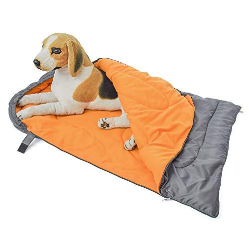 Tangzhan Grand sac de couchage imperméable pour chien avec sac de rangement portable pour voyage, camping, randonnée, imperméable