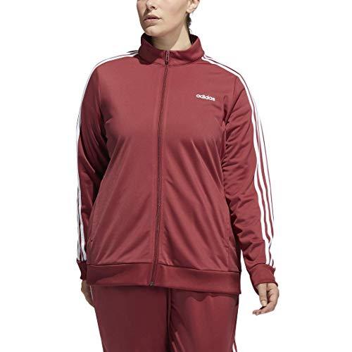 adidas Female Essentials Tricot Track TopLegacy RedWhite4X