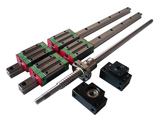 Hezukyp HGR 15MM Linear Guideway Rail RM1605 ballscrew 800MM Linear Motion Kit
