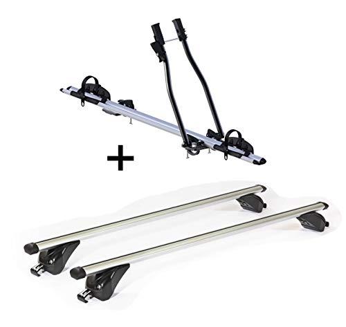 VDP fietsendrager SAGITTAR + dakdrager/dakdrager KING1 compatibel met Mini Cooper (3 deurs) vanaf 14