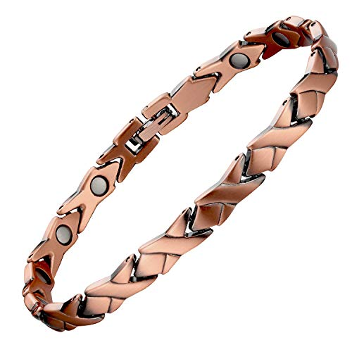 Copper Magnetic Bracelet for Women Pain Relief for Arthritis and Carpal Tunnel Migraines Tennis Elbow