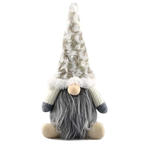 Gnomo de Navidad, Decoraciones Navideñas Gnome, Papá Noel, Muñeco de Navidad, Decoraciones para el Hogar de la Fiesta de Navidad, Peluches Enanos, Adornos Navideños Sin Rostro, 16x6x29cm(32025 Blanco)