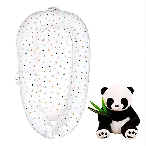 New Baby Nest Sillón reclinable para bebés Super Suave Cuna portátil para bebé Necesidades para el bebé recién Nacido Viene con una muñeca Panda Adecuado para Viajes, Siesta,Triangle