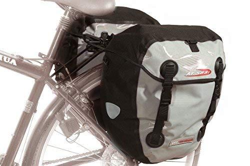 Massi fietstas cm227 dubbel waterdicht grijs