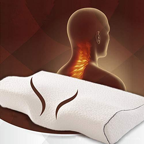 Genkue Suave Orthopedic Latex Almohada De Cuello De Magnético Rebote Lento Almohada De Espuma De Memoria Cuidado De La Salud Cervical Liberación De Dolor