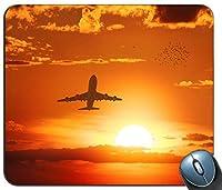 飛行機飛行日没鳥雲15408マウスパッドマットマウスパッドホットギフト