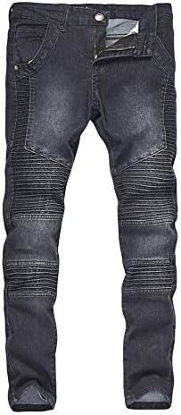 Soluo Men s Slim Fit Vintage Distressed Motorcycle Jeans Denim Straight Biker Skinny Casual product image