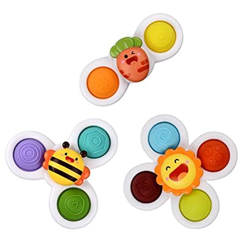 Juguete sensorial lindo de la prensa del juguete de la historieta que gira el juguete superior de la descompresión del juguete para niños