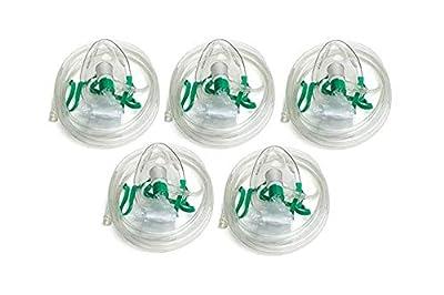 Dealmed Non-Rebreather Oxygen Mask, Adult, 5 Count