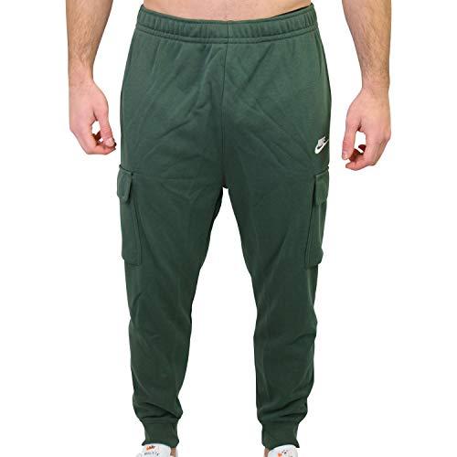 Nike Herren NSW Club Fleece Cargohose Dunkelgrün XS