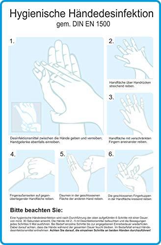 INDIGOS UG - Hygienische Händedesinfektion - Kunststoff, 20,0 x 30,0 cm