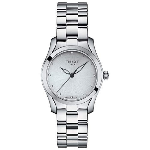 Tissot T-Wave Damen-Armbanduhr Diamant 30mm Schweizer Quarz T112.210.11.036.00