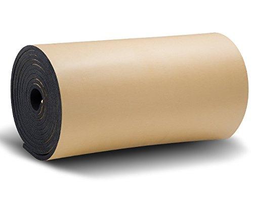 SOOMJ 断熱 吸音 防音 緩衝材 衝撃吸収 裏面が粘着テープ付きなのでカットして簡単貼り付け (5mロール 厚さ30mm, ブラック)