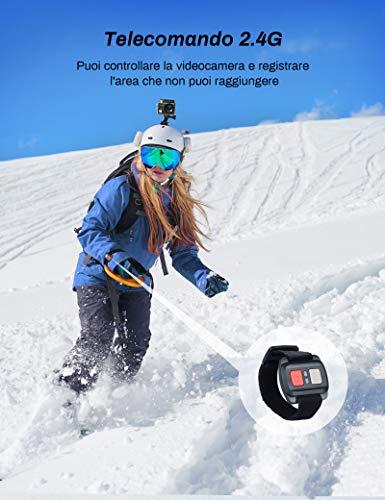 Crosstour Action Cam 4K WiFi 16MP Ultra HD mit Fernbedienung Unterwasserkamera 30m Wasserdicht Sport Cam 2