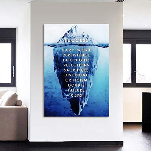 wtnhz Leinwand Poster Wandkunst 1 inspirierende Bild Eisberg Unterwasser Wohnzimmer Home Dekoration Drucke Kein Rahmen