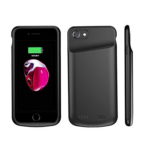 HiKiNS Funda Batería para iPhone 6 Plus/7 Plus/8 Plus 6000mAh Externa Ultra Batería Recargable Power Bank Case Funda Cargador Portatil Batería para iPhone 6 Plus/7 Plus/8 Plus - Black