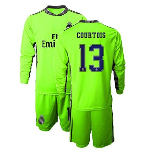 TT377 Fußball-T-Shirt,2020-2021 COURTOIS #13 Torwarttrikot Fußball-Trikot Kurzarm Anzug