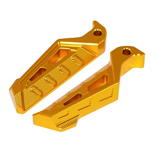 Moto per Y&amaha X&Max 125 250 300 400 Accessori per Moto Poggiapiedi passeggero Poggiapiedi Piedi Pedane Pedali Posteriore Pedali Antiscivolo Poggiapiedi (Colore : Oro)