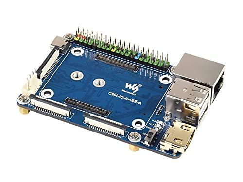 Mini Basisplatine für Raspberry Pi Compute Module 4 Lite/EMMC Series Module, mit Standard CM4 Sockel und Farbcodiertem Raspberry Pi 40PIN GPIO-Header, Onboard Mehrere Anschlüsse