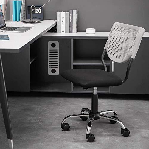 CEyyPD. Mid Zurück Armless Study Chair for Privatanwender Kaufen Büro-Computer-Schreibtisch Stühle Adjustable Swivel Schreibtisch Aufgaben-Stuhl (schwarz Ohne Armlehne)