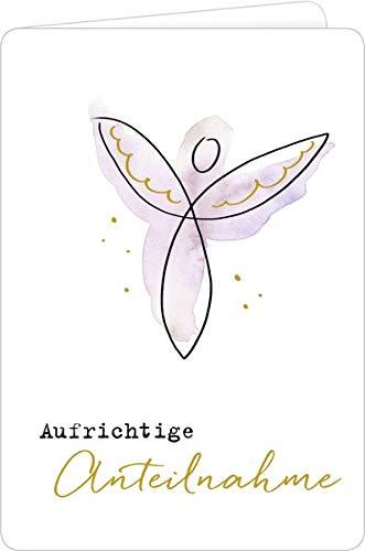 Trauerkarte - Aufrichtige Anteilnahme (Schutzengel)