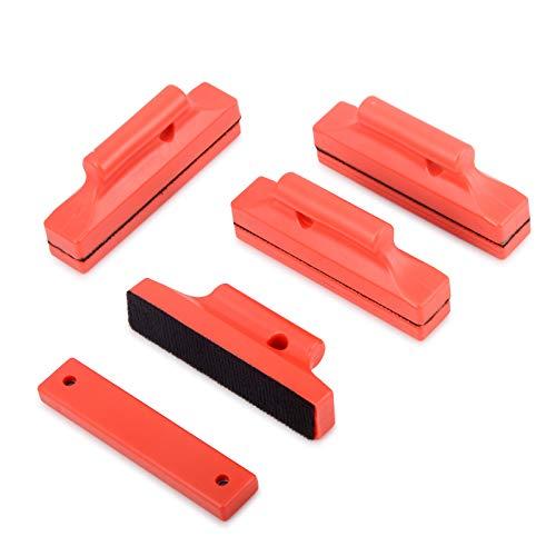 Winjun Vinyl Wraps Magnete Montage mit Kappe für Anbringen von Folie Tönungsfolie Fensterfolie Folierungs Werkzeug, Rot