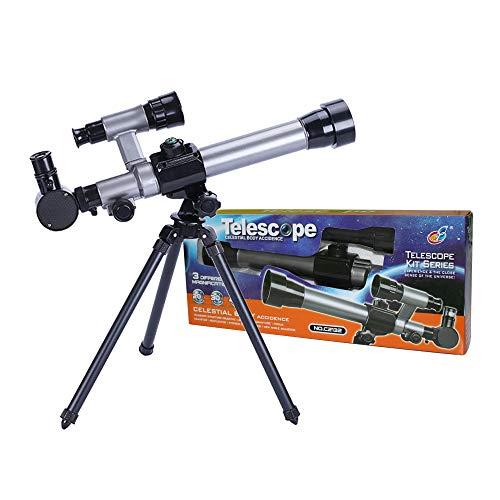 ALEENFOON Teleskop für Kinder, 20X-30X-40X Astronomisches Kinder Fernrohr Teleskop für Astronomie Anfänger Kinderteleskop Set mit Stativ Okulare Kompass und Sternfinderlinse Wissenschaft Spielzeug