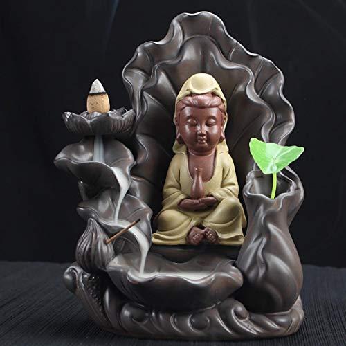 Simanli Zen Garden Lot de 10 bâtonnets d'encens pour fumoir Incense Burner avec Fond Incense Cones, Backflow Incense Burner comme décoration de Maison, aromathherapy Sculptures