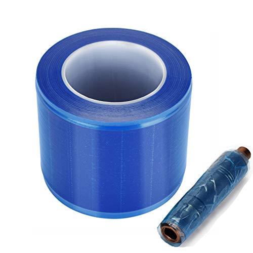 ATOMUS 1200PCS/roller Blue Dust-Proof Film Tattoo Machine Grip Ink Holder Tattoo Accessories Tool Protective Film Tweezers Dental Tool Dust-Proof Film 14.5cm*10cm
