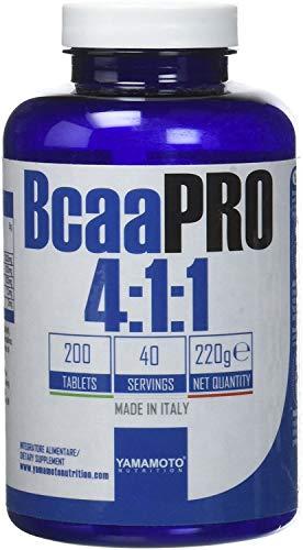 Yamamoto Nutrition BCAA Pro 4:1:1 Kyowa Suplemento Dietético - 200 Tabletas