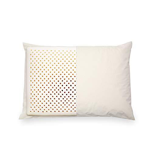Nosterappou Almohada de látex Natural cómoda y Transpirable con Almohada Cervical, Tacto Suave y Alta Resistencia