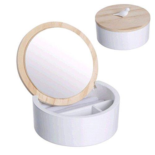 Dcasa - Joyero redondo con espejo