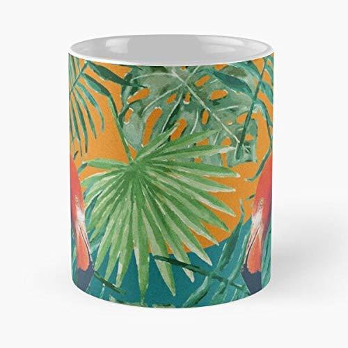 Trend Celsius Buzzer Yeah Parrot Hot Summer Bestseller Best Mug sostiene la mano 11 oz hecha de cerámica de mármol blanco