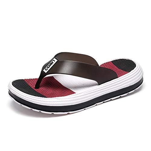 WOJIAO Verano de Las Mujeres Casual Chanclas Sandalias de Playa Plataforma Zapatilla Peep Toe Lindo Suave Zapatos Cómodos
